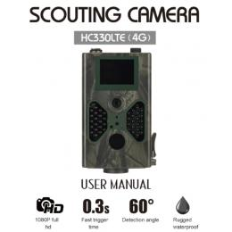 4G 16MP 1080P Hunting Trail Camera with 40pcs 940nm IR Lights